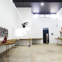 nepantla, vista de instalación en Gamma Galería, 2019. Imagen cortesía de Gamma Galería