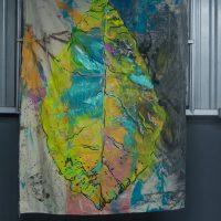 Walter Fernández, Virginia Criolla (2018). Acrílico sobre canvas. Imagen cortesía de KM 0.2