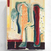 Lucía Vidales, El tiempo lo pudre todo (2019). Oleo sobre tela y mdf, 18 x 13 cm. Imagen cortesía de Galería Alterna