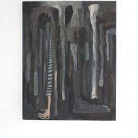 Lucía Vidales, ¿Consevas tu carne en cada hueso? (2019). Oleo, tinta y encausto, 70 x 55 cm. Imagen cortesía de Galería Alterna