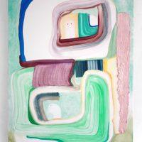 Lucía Vidales, Óyeme con los ojos (2019). Óleo y encausto sobre tela, 80.5 x 60 cm. Imagen cortesía de Galería Alterna