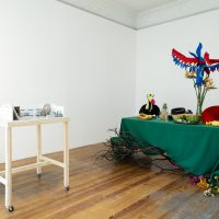 Wendy Carbera Rubio and Josué Mejía, Apocalipto (2019). Installation view. Image courtesy of Nordenhake Mexico