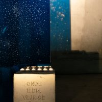 Felipe Braga, Functional Work # 2 (Lina with eggs) (detail), 2016. Concrete, glass, insufilm, box with eggs and lamp, 200x200x100cm. Installation view. © Renato Mangolin. Image courtesy of Bernardo Mosqueira