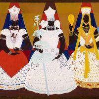Djanira da Motta, Três orixás (1966), óleo sobre tela, 130 x 195,5 cm, collectionPinacoteca do Estado de São Paulo, Governo do Estado de São Paulo, 1969, photo: Isabella Matheus