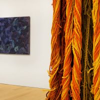 Sheila Hicks, Campo Abierto (2019). Installation view Image courtesy of The Bass.
