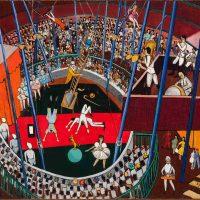 Djanira da Motta, Parque de diversões (1948. Oil on canvas, 60 x 73 cm, Acervo MASC - Museu de Arte de Santa Catarina, photo: Márcio Martins