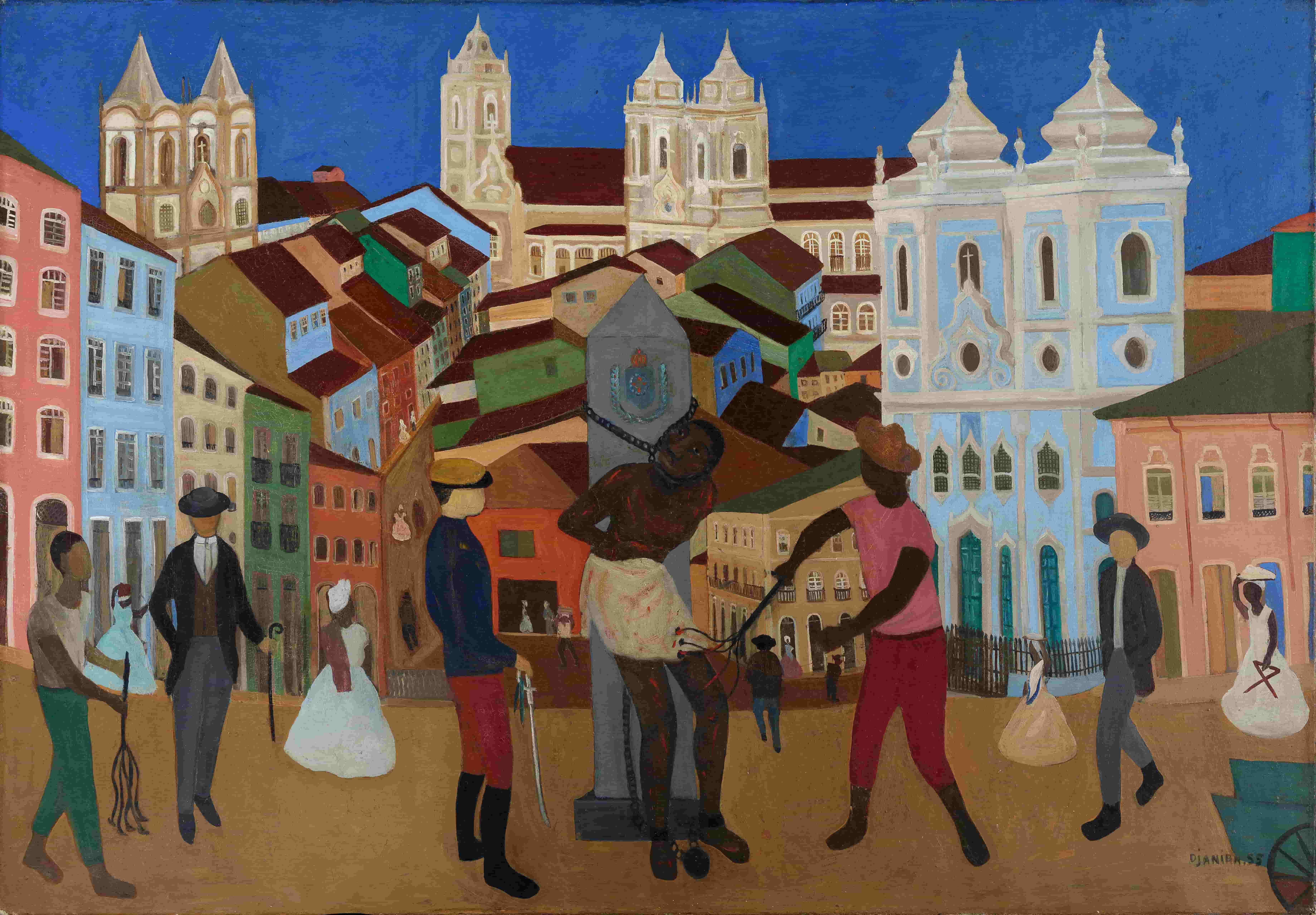 Djanira da Motta, Mercado da Bahia (1959). Oil on canvas, 114,5 x 162 cm, Roberto Marinho collection, Instituto Casa Roberto Marinho, Rio de Janeiro, photo: Pedro Oswaldo Cruz