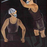 Djanira da Motta, Mineiros de carvão, Santa Catarina (1974). Oil on canvas, 162 x 114 cm, Museu Nacional de Belas Artes/IBRAM collection, Rio de Janeiro, photo: Jaime Acioli