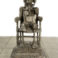 Huma Bhabha, The Orientalist, 2007. Bronze, 70 × 41 × 33 inches (177.8 × 104.1 × 83.8 cm). Private collection. Courtesy the artist and Salon 94, New York. © Huma Bhabha
