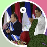 Reelección de Daniel Ortega para la presidencia el 10 de enero del 2007, acompañado en la ceremonia de toma de poder por el presidente venezolano Nicolás Maduro.
