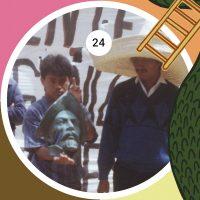 Militantes de la Central Independiente de Obreros y Campesinos (CIOAC) tras el derribo del monumento al conquistador español Diego de Mazariegos, en la marcha convocada por el Frente de Organizaciones Sociales de Chiapas (FOSCH), con motivo del 500 aniversario de la Conquista de América, el 12 de octubre de 1992.