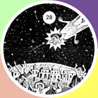 Caricatura de José Guadalupe Posada, representando el pánico causado por el paso del Cometa Halley en 1910, que muchos interpretaron como una señal del fin del mundo, o de la futura caída del régimen de Porfirio Díaz ante la expansión del movimiento revolucionario.