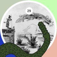 Según la leyenda azteca, diez años antes de la llegada de los españoles, el emperador Moctezuma II presenció una serie de ocho presagios anunciando la futura tragedia. El cuarto de ellos fue la aparición de un cometa en el cielo diurno, visto aquí en una ilustración del Códice Durán.
