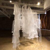 Claudia Casarino, Desbordan (cuatro paredes) (2019). Vista de instalación. Imagen cortesía de Fundación Texo