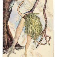 Elba Bairon, Sin título (1990). Tinta, plumín, acuarela y relieve de papel sobre papel. Propiedad de la artista. Foto: Marcos Bongarrá