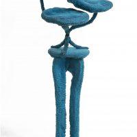 Ariadna Pastorini, Sin título (1992). Escultura realizada con estructura de metal y madera, forrada con peluche y cosida a mano. Propiedad de la artista. Foto: Gustavo Sosa Pinilla