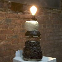 Ilana Harris-Babou, Untitled Lamp from Reparation Hardware (2018). Ceramic, apoxy resin & lamp.  Image courtesy of The Chimney