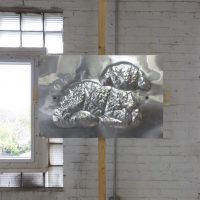 Michael Ray-Von, Lamb (2019). Aluminum. Image courtesy of  sodA mundial