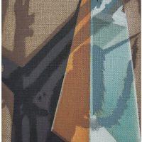Luis Alfonso Villalobos, Inca Negro (2019). Acrílico sobre lino. Imagen cortesía de Rincón Projects