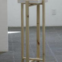 Héctor Jiménez, Listo para usarse (2019). Cítricos, madera, plástico. Foto por Carlos Corona