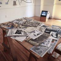 Archivo de Culturas Subterráneas, Underland (2019). Vista de instalación en Terremoto La Postal. Foto por Valentina Jiménez