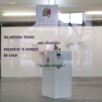 Tonatiuh López, Arte_vida (detalle de intervención) (2019). Foto por Alum Gálvez. Cortesía de Local 21 arte
