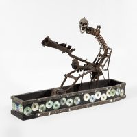 André Eugène, Gede Sekey (2009). Wood, metal and skull. Courtesy of the artist and Pioneer Works