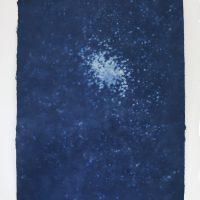Olmo Uribe, De la serie Canciones para una pintura (2018). Cianotipia sobre papel de fibras de lino.Imagen cortesía de VioletaHorcasitas