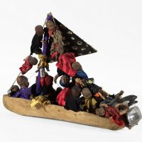 Dubréus Lhérisson, Met Agwe (2014). Mixed media. Courtesy of the artist and Pioneer Works