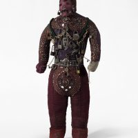 Dubréus Lhérisson, Ogou Feray (2014). Wood, dolls, sequins, cow horns, whips. Courtesy of the artist and Pioneer Works