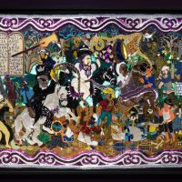 Myrlande Constant, Ceremonie Saint Brigitte Baron La Kwa (2005-2016). Beads on cotton. Courtesy of the Collection of Laurie Silverman, Miami