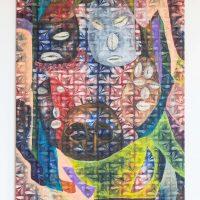 Gala Berger, Nosotros (2019). Pintura al óleo sobre wax fabrica. Imagen cortesía de Elisa Bergel Melo & Casa Quién