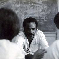 Édouard Glissant teaching at the Institut Martiniquais d'Études, the school he founded in 1967, Private collection