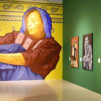 Los huecos del agua. Arte actual de pueblos originarios (2019). Vista de instalación. Imagen cortesía de Museo Universitario del Chopo