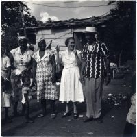 Lydia Cabrera (second from right) with a group of informants, Central Cuba, undated. Cuban Heritage Collection at the University of Miami Libraries, Coral Gables, Florida.