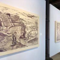 Demián Flores,América. Visiones nuevas desde el viejo mundo(2019). Vista de instalación. Centro de las Artes de San Agustín, Etla, Oaxaca, México