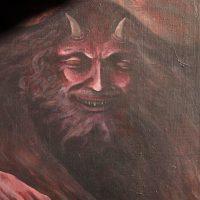 GuidoOrlando Contrafatti, No soy nada sin mi diablo (2012). Acrílico sobre lienzo. Foto por Mailén Pankonin