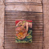 GuidoOrlando Contrafatti, Sin título (2013). Acrílico y laca acrílica sobre lienzo. Foto por Mailén Pankonin