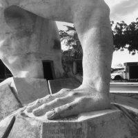 Luis Carlos Hurtado, Fragmento del monumento. Cortesía del artista