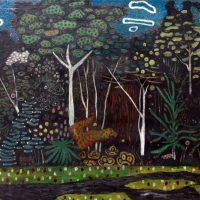 Enrique Tábara. La selva. Óleo sobre lienzo. Colección: Ministerio de Cultura y Patrimonio del Ecuador / Reserva MAAC. Crédito:Ricardo Bohórquez / MAAC