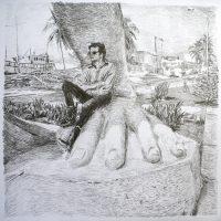 Luis Carlos Hurtado, Roberth Smithson dibujo 1. Cortesía del artista