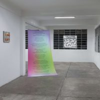 Buy us! Cuerpxs, consuma & trabaje (2019). Vista de instalación. Foto por Alfredo Mora, cortesía de Lagos
