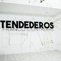 Franco Contreras, Tendederos (2019).Palos de café, cuerda. Foto por Fabio Rincones and María Niño