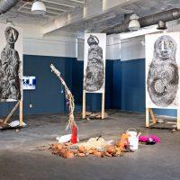 Cristobal Gracia. Participante en Bienal Tlatelolca. Vista de instalación. Imagen cortesía de Balam Bartolomé