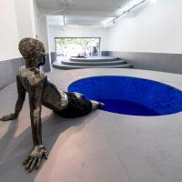 Alejandra Prieto, Estratos (2019). Vista de instalación. Imagen cortesía de Galería Gabriela Mistral