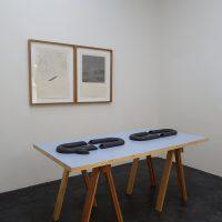 Blanca González, Allá, entre las montañas (2019). Vista de instalación en Galería 123, CDMX