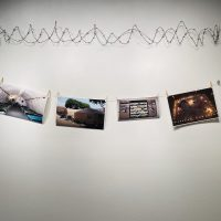 Erick Antonio Benitez, Sanctuary #2 (2018). Archival Cotton Rag Photographs, barb wire, clothesline rope and clothespin clips. Photo Credit: Kay Baier