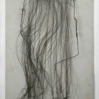 Gego, Haare (1985). Cardboard, florist wire, beads and metal. Particular collection