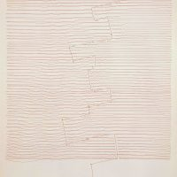 Gego, Sin Título (1969). Ink on paper. Fundación Gego. Collection at the Museum of Fine Arts, Houston
