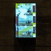 Sofia Gallis Muriente, De la serie: Asimilar y destruir (2017-2019). Tres cajas de luces con fotogramas 16 mm